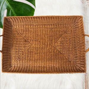Other - Boho Serving Tray Basket